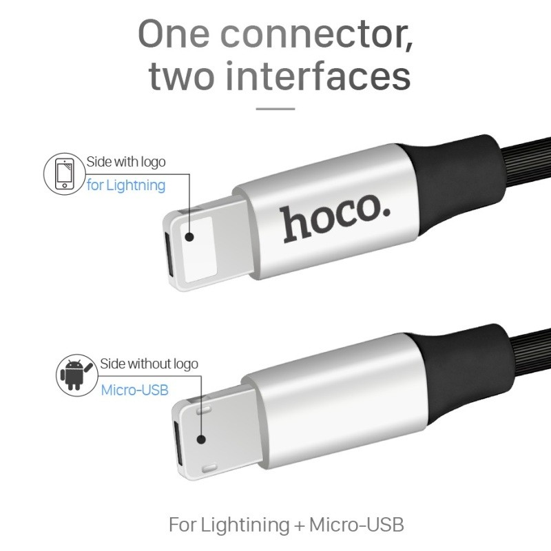 Hoco U18 Golden hat multi-functional charging cable