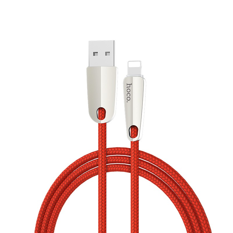 Hoco U35 Space shuttle smart power off lightning charging data cable(L=1.2)