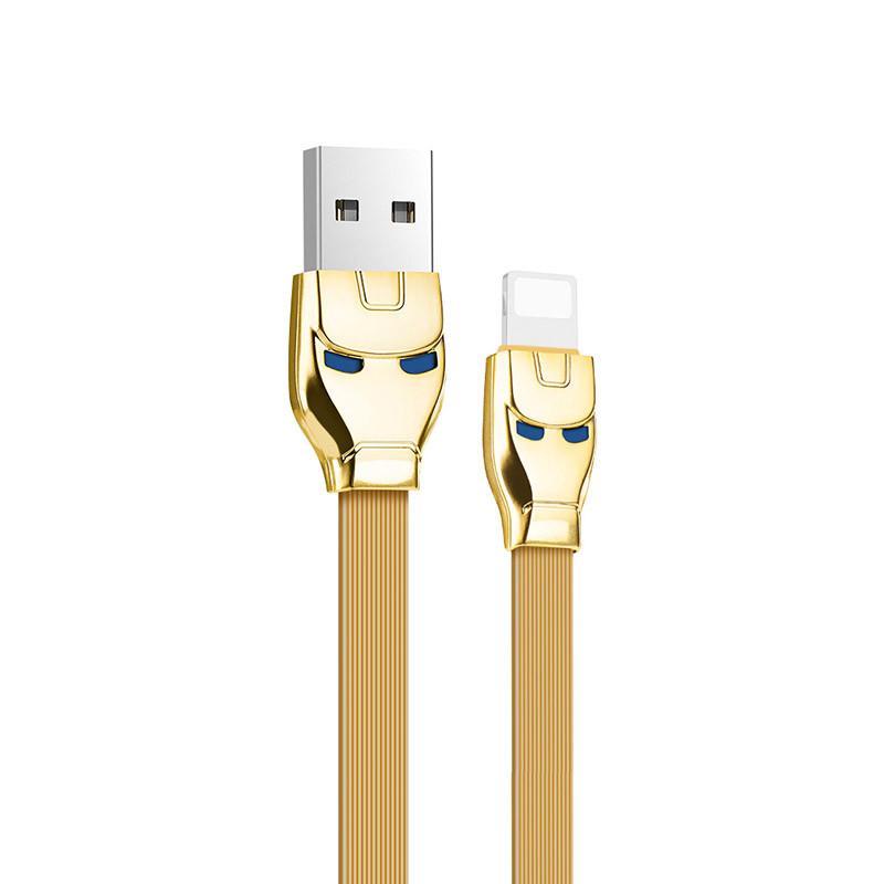 Hoco U14 Steel man lightning charging cable