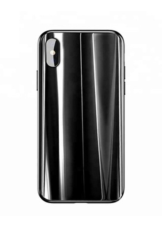 Baseus Glass Sparkling Case For iPX Black
