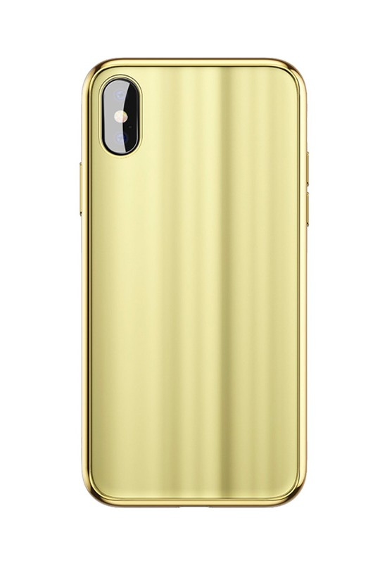Baseus Glass Sparkling Case For iPX Gold
