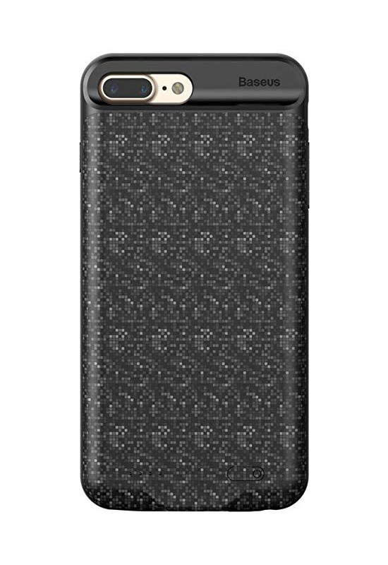 Baseus Plaid Backpack Power Bank Case 3650MAH For iPhone7/iPhone8 Plus Black